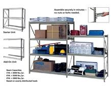HEAVY-DUTY Z-BEAM STORAGE RACK - STARTER UNITS W/O DECKING